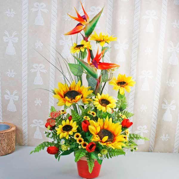 Artificial Sun Flowers Arrangement Free Delivery Singapore