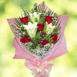 Roses & Lllies Enchantment Bouquet