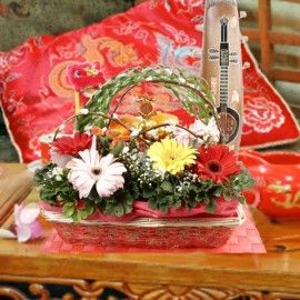 Sensationally Auspicious Chinese New Year Flowers Basket