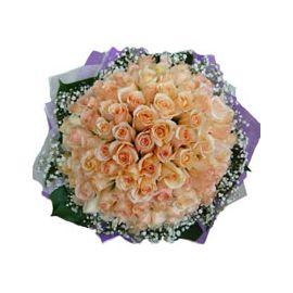 99 Champagne Rose Handbouquet