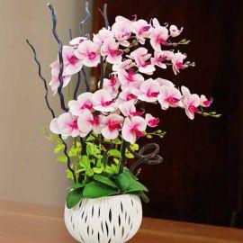 Artificial Phalaenopsis Orchid Arrangement 80cm Height