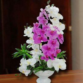 Artificial Phalaenopsis Orchid Table Arrangement