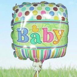 Add On Baby Helium Balloon (Square-Shaped)