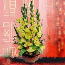 Artificial Gladiolus Chinese New Year Flower Arrangement