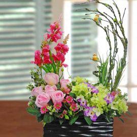 Artificial Flowers Table Arrangement