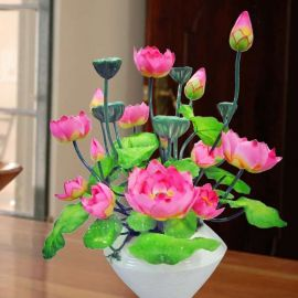 Auspicious Artificial Lotus Chinese New Year Flower Arrangement