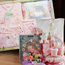 Precious Moments Baby Girl Gift Basket