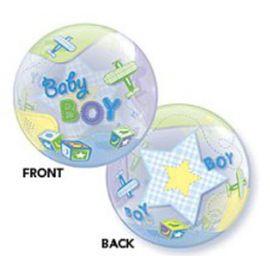 Add On Aeroplane Baby Boy Balloon (Round)