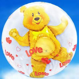 Add On 3D Special Bubbles Teddy Bear Balloon