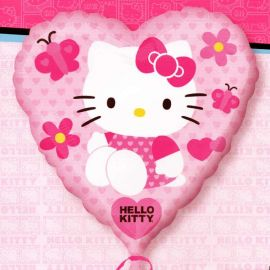 "Add-On 17"" Hello Kitty Pink Heart Shape Balloon Helium Balloon"