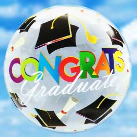 """22"""" (Grad Hats) Floating Balloon With Delivery"""