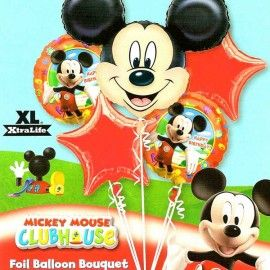 Add On Mickey Mouse Birthday Balloon Bouquet (5pcs)
