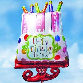 Add-on Happy Birthday Foil Balloon 65x45cm