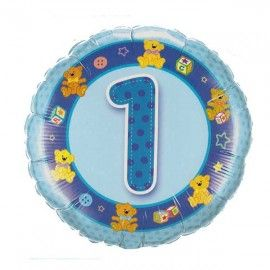 Add On Teddies (Blue) Baby 1st Birthday Balloon