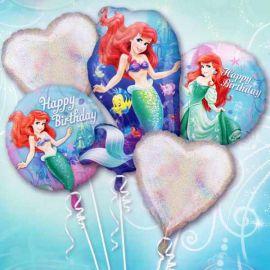 5 pcs in A Set Disney Princess Floating Helium Bouquet Balloons