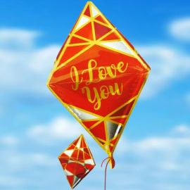Add-On 25 Inches Helium Filled (I Love You) Special Shape Balloon