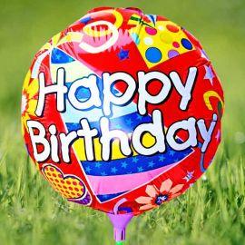"Add-On 10"" Happy Birthday Balloon"