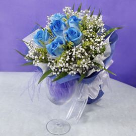 Bluely Blue Roses