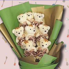 8 Mini Bear Bouquet