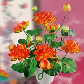 Artificial Water Lilies Table Arrangement