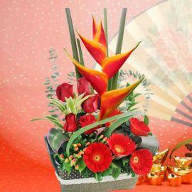 Lucky Rendezvous Lunar New Year Flowers Arrangement