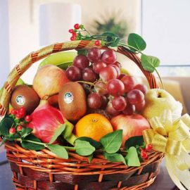 Mixed Fruits Basket Arrangement