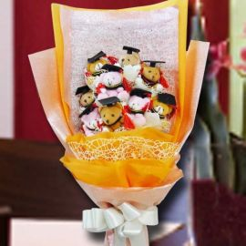 Graduation Bear (9cm) Bouquet