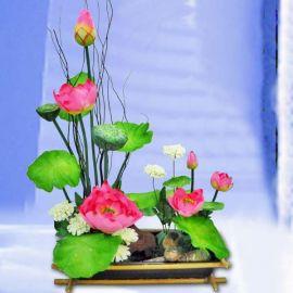 Artificial Lotus-Ikebana