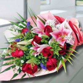 Roses & Lllies Symphony Bouquet