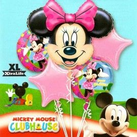 Minnie Mouse Birthday Floating Bouquet Balloon ( 5pcs )