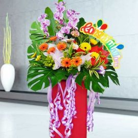 Artificial Orchids & Gerbera Opening Stand