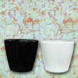 Add-On Fiberglass Planter Pot 28cm Diameter (Pls Chose Black or White)