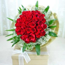 36 Red Roses Handbouquet