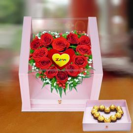Red Roses in Gift Box