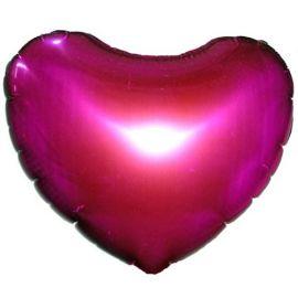 Add On Hot Pinky Balloon (Heart-Shaped)