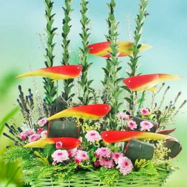 Heliconia Flowers Arrangement