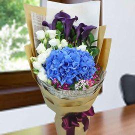 Calla Lily & Hydrangea Hand Bouquet