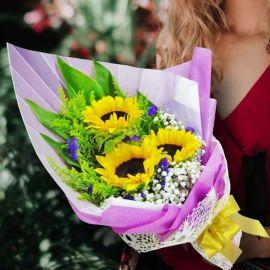 3 Sunflower Handbouquet