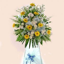Yellow gerbera arrangement 5' height