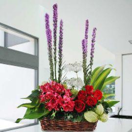 Alstroemeria & Roses Arrangement