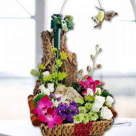 Table Garden With Flying Bird