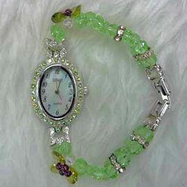 Green Crystal Watch