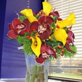 Cymbidium Orchid & Calla Bouquet ( 3 Days Advance Order )