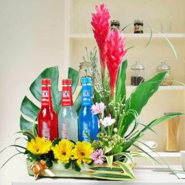 3 Alcoholic Beverages & Ginger Flowers